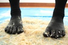 ♦ ️ [Crash # 11] ⭐️ [Binaural recording] Kurashina's bean sprout crush five-finger black socks ❗️