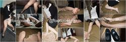 [Image + video] The second 22-year-old real estate company new employee after work muremure pantyhose! Bare feet! Menstrual underwear!