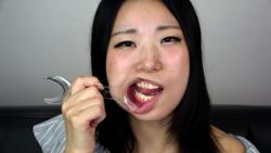 [Teeth fetish] Petit mouth observation Miyanaga's mouth
