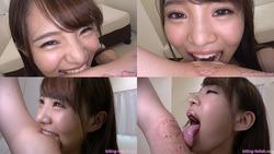 [Biting] Pleasant through! Honoka-chan's tooth shape clearly bites! ! ~ Finger / arm ~~ [Honoka Suzumi]