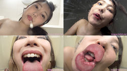 Nao Kiritani - Smell of Her Erotic Long Tongue and Spit Part 1