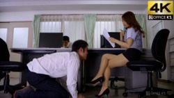 """""""I'm a virgin... Shall I take it away?"""" I, a small person, seduce me in the office! !! Lucky sex without courage! ? That girl who always works together was a ridiculous filthy woman in AV."""