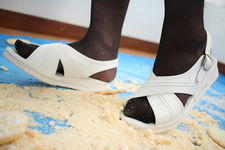 ♦ ️ [Crash # 12] ⭐️ [Binaural recording] Kurashina's white nurse shoes for rice crackers 💖