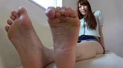 Beautiful sister's bare feet & smell