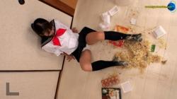 ♦ ️ [Food crush  # 34] ⭐️ JK Mineo-chan's secret after school 放️ 紺 Socks