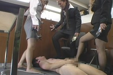 Amateur male employee abuse white paper of kerchief businessmen pantyhose OL